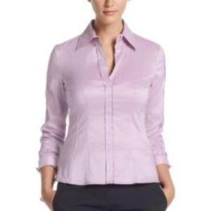 Hugo BOSS  8 Bashina Purple Popover Shirt Top